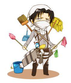 Es hora de limpiar mocosos!_Levi,Snk