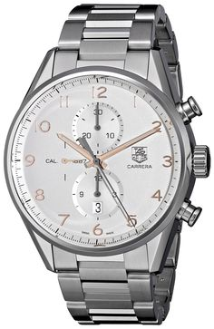 Tag Heuer Men's 'Carrera' Silver Dial Stainless Steel Automatic Watch CAR2012.BA0799