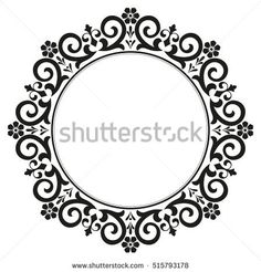 Decorative line art frames for design template. Elegant element for design in Eastern style, place for text. Black outline floral border. Lace vector illustration for invitations and greeting cards.