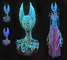 Alien Head Design - Blue by telthona on DeviantArt