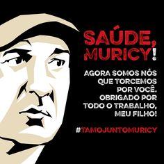 07.04.2015 - Desejo de pronta recuperação à Muricy Ramalho, que deixara o comando da equipe são-paulina