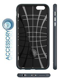 iPhone 6 Plus Case Spigen Neo Hybrid Series Metal Slate Dual Layer Bumper Style  #Spigen