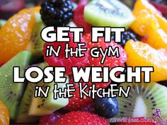 You get fit by hitting the gym. You lose weight in the kitchen. Combine both and you are healthy!