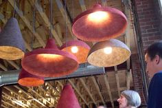 Hanging lamps made of felt