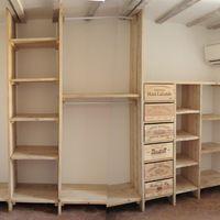 """La commande, dans une chambre d'environ 10m² : faire entrer un """"dressing"""" sur mesure, adapté aux besoins, afin de préserver un maximum de place pour le lit et débattement. Réalisation simple en..."""