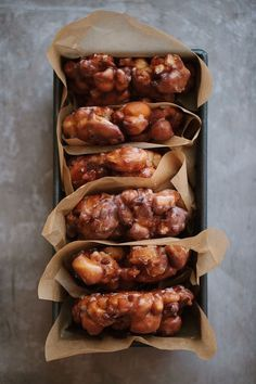 "grayskymorning: "" Apple Pecan Fritters + Brown Butter Glaze """
