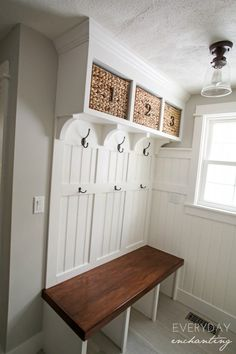 https www.hometourseries.com garage-storage-ideas-makeover-302 - 1000 ideas about Hall Tree Bench on Pinterest