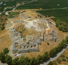 MYCENAEAN: Aerial view of the Walled city of Tiryns. c. 1400-1200 BCE.
