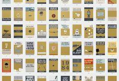 Pop Chart Lab | Design + Data = Delight | 100 Essential Novels Scratch-off Chart