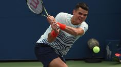 Wimbledon finalist Milos Raonic suffered an extraordinary shock exit at the hands of unfancied American Ryan Harrison.