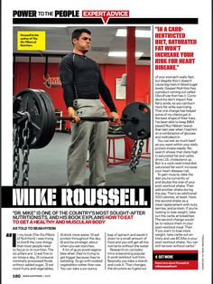 Featured in Power to the People Expert Advice - Feb 2013 issue of Muscle and Fitness