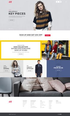 H&M Homepage Redesign  https://dribbble.com/shots/1688250-H-M-Homepage-Redesign/attachments/268008