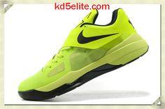 Nike Cheap KD 4 Volt Black Kevin Durant New Shoes 473679 302