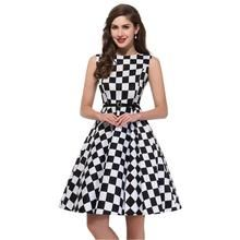 Summer Retro Checker Dress