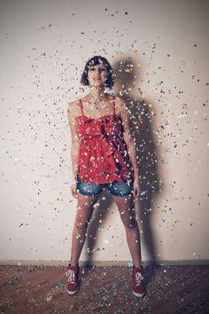 Confetti photoshoot