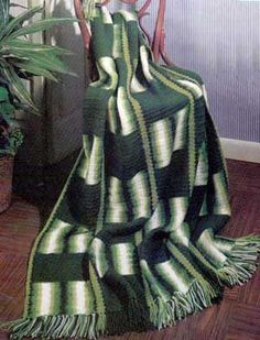 Jungle Striped Afghan | AllFreeCrochetAfghanPatterns.com