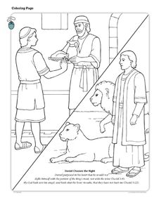 Daniel Chooses the Right (LDS The Friend Magazine Coloring Page)