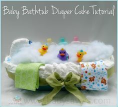 How to Make a Baby Bathtub Diaper Cake Tutorial