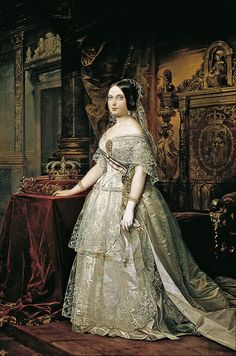 Queen Isabel II of Spain (1844)   Federico de Madrazo, Spanish writer and artist (Rome, 1815 - Madrid, 1894)    Portrait