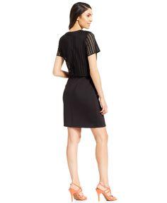 Spense Petite Peforated Cropped Sheath Dress - Dresses - Women - Macy's
