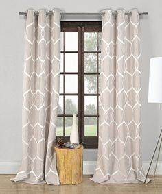 Another great find on #zulily! Taupe Quey Wave Crinkle Panel - Set of Two #zulilyfinds