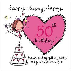 Age Cards Happy 50th Birthday SisterHappy
