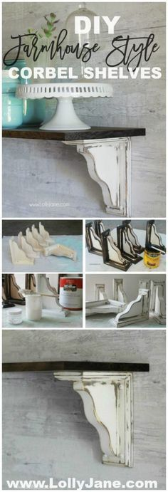 Fixer Upper Farmhouse Style Ideas From Natural to Fabulous – take a look at these DIY Farmhouse Shelves – a total Fixer Upper Style win! More DIY Fixer Upper Farmhouse Style Ideas on Frugal Coupon Living. Country Decor, Farmhouse Decor, Farmhouse Style, Country Style, Farmhouse Renovation, Farmhouse Shelving, Farmhouse Ideas, Farmhouse Design, Cottage Style
