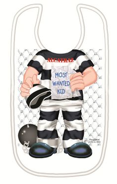 Just Add a Kid 'Alcatraz' Bib available online at http://www.babycity.co.uk/