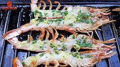 garlic butter grilled argentine red shrimp