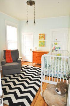 mint and orange nursery - Google Search
