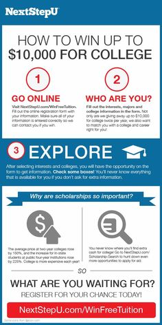 Win Free Tuition for #College #Scholarship