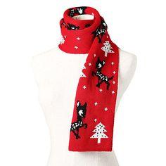 Unisex Christmas Scarf Reindeer Snowflake Print Scarf Warm Thick Winter Tassels Xmas Shawl