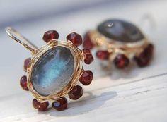 Labradorite Earrings 14K Gold Filled Jewelry door yifatbareket