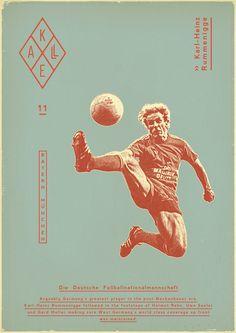 Sport illustration design football players 59 Ideas for 2019 Retro Football, Football Art, Vintage Football, Football Players, Football Things, Football Design, Soccer Art, Soccer Poster, Soccer Books