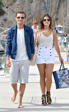 Louis Tomlinson, Danielle Campbell from The Big Picture: Today's Hot Pics  The coordinating couple walk hand in hand in Monaco.
