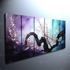 I found 'Hand-painted Floral Oil Painting with Stretched Frame - Set of 6' on Wish, check it out!