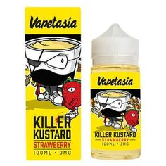 Killer Kustard Strawberry E Liquid by Vapetasia E Liquids is a rich and creamy clouds of vanilla custard combined with hints of ripe strawberries. Killer Kustard Strawberry E Liquid is a VG/PG and Nicotine level of and in bottle.