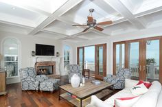 fireplace. porch. big screen. tray ceilings. fan and an unbelievable view... didn't miss a thing.