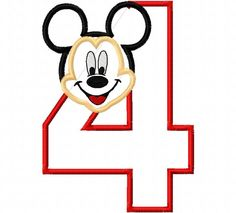Mr. Mouse Birthday Number Four fourth 4 4th Applique Design Applique Machine Embroidery Design elmo by CindysAppliques on Etsy Embroidery Designs, Applique Design, Birthday Numbers, Elmo, Four, Appliques, Snoopy, Handmade Gifts, Fictional Characters