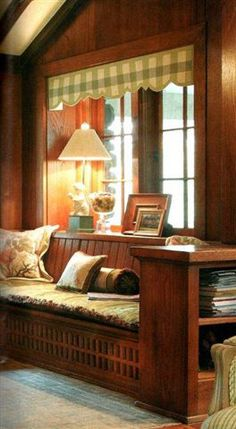 Wonderful built-in reading nook.