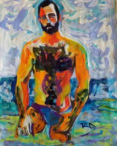 Solitary by RD Riccoboni acrylic painting