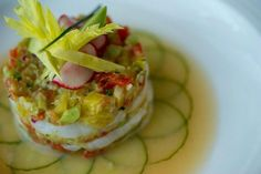 Scallop Ceviche- Citrus marinade, seasonal vegetables  tartare