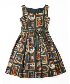 Anniversary Museum Square dress - Jane Marple Online Shop