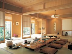 Adorable 40 Rustic Apartments Design Ideas With Japanese Interior Style To Have Japanese Style House, Traditional Japanese House, Japanese Interior Design, Japanese Home Decor, Home Interior Design, Interior Styling, Japanese Homes, Interior Modern, Minimalist Interior