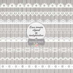 Clipart white lace borders, clip art lace, lace border, digital lace border, white digital border, lace digital, border lace