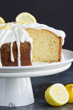 This cake is full of lemon flavor it's the perfect recipe for any occasion! Trisha Yearwoods Lemon Pound Cake with Glaze recipe