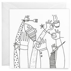 Hands Greeting Card – wunderbär: design & illustration by independent artists Diy Trend, New Product, Illustration, How To Find Out, Recycling, Greeting Cards, Hands, Creative