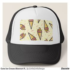 Cute Ice Cream Abstract Pattern Trucker Hat - Fashionable Urban And Outdoor Hunter Farmer Trucker Hats By Creative Talented Graphic Designers - #hats #truckerhats #fashion #design #designer #fashiondesigner #style #trends #bargain #sale #shopping - Trucker Hats are a great way to cheer your team or promote your brand or make a unique fashion statement or simply keep the sun out of your eyes - Customizable trucker hats are the perfect way to look cool and memorable - Trucker Hats can be…