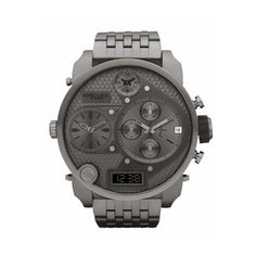Diesel Men's DZ7247 'Mr Daddy' Grey Oversized Chronograph Stainless Steel Watch | Overstock.com Shopping - The Best Deals on Diesel Men's Watches