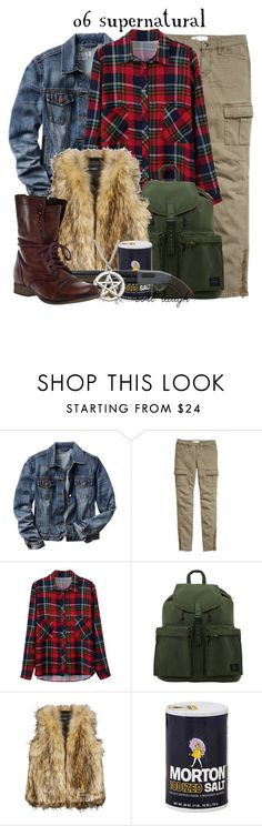 """""""06 Supernatural -- DMA Challenge"""" by evil-laugh ❤ liked on Polyvore featuring Gap, H&M, Unreal Fur, Steve Madden and dmachallenge"""